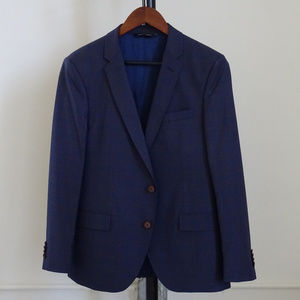 Blue Check Sarar Suit with Accessories - NWOT